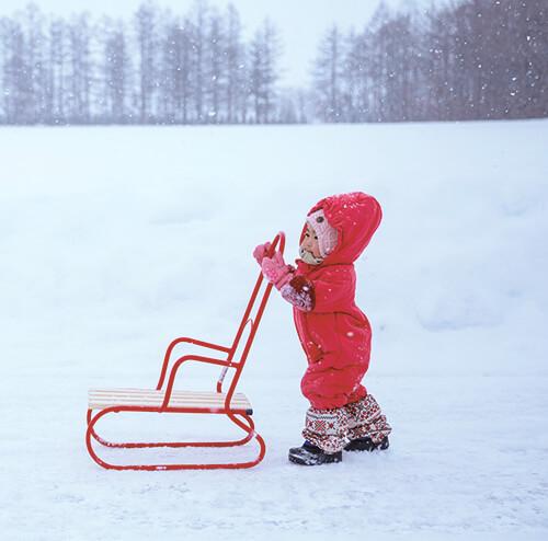 冬の歩行補助